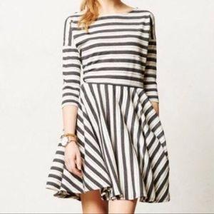 Puella Gray Striped Midday Dress
